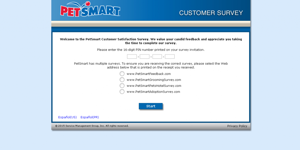 Petsmart Client Survey Guide – Customer Survey