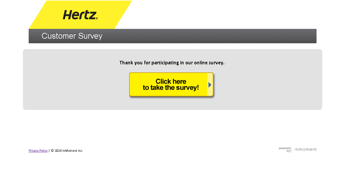 hertz survey page screenshot