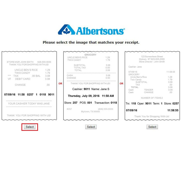 Albertsons Survey Guide