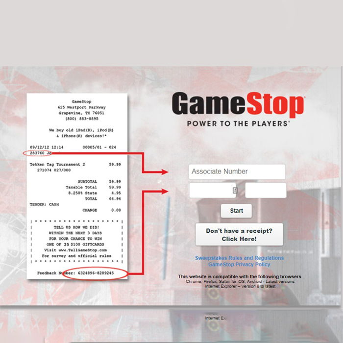 Tellgamestop Survey Guide