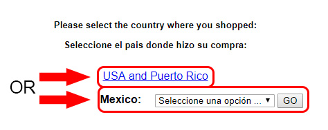 autozone survey country selection