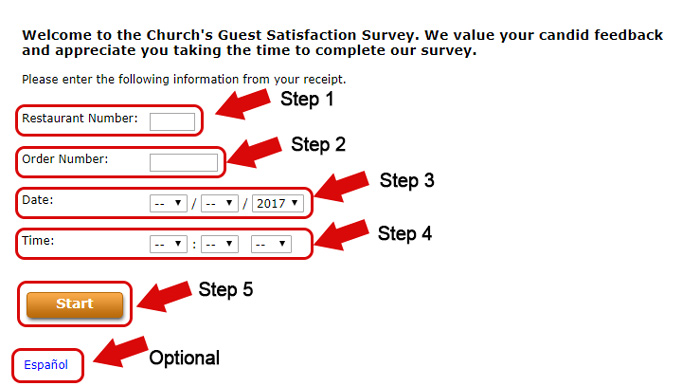 churchs chicken survey