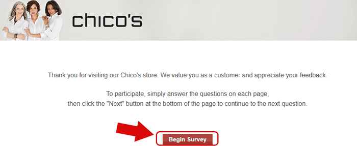 chicos survey start