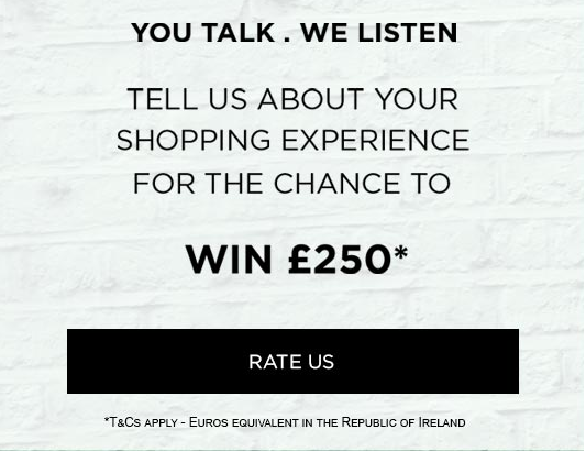 Dorothy Perkins survey