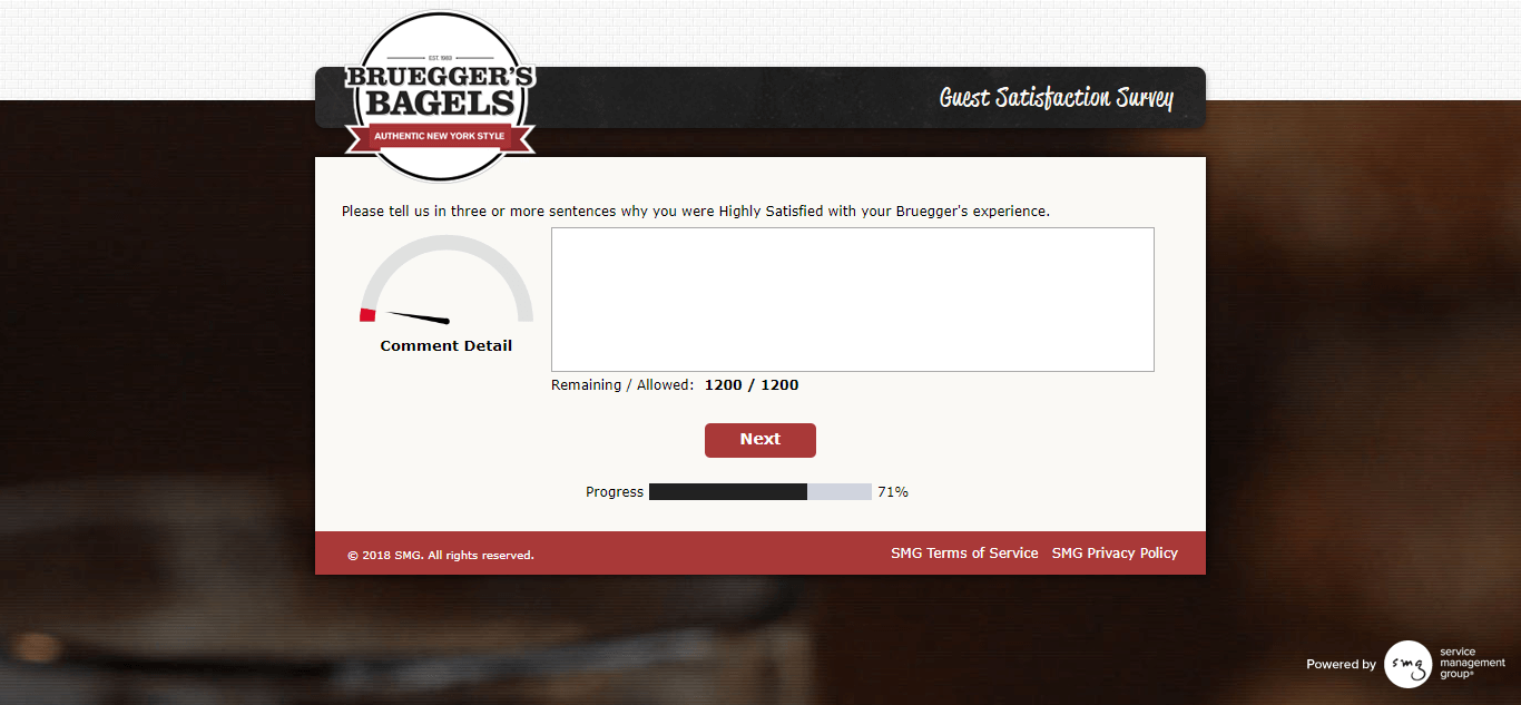 Bruegger's survey validation code